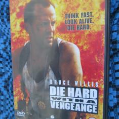 DIE HARD with a VENGEANCE (cu BRUCE WILLIS si SAMUEL L. JACKSON) - film DVD (original din ANGLIA, in stare impecabila!!!) - Film actiune, Engleza