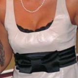 Rochie deosebita Nissa, mas. 40, Fara maneca