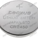 Baterie CR2450, litiu, 3V, Tecxus-050184