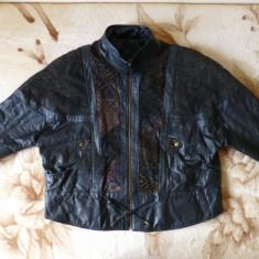 Geaca barbati - Geaca vintage piele naturala Le Cugno Sportif Special Leather;marime XL;impecabi