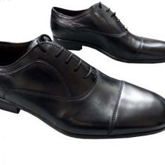 Pantofi eleganti piele - Pantofi barbati, Marime: 40, 42, Culoare: Negru, Piele naturala, Negru