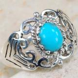 Inel argint - Inel Art Nouveau Style (Ag 925): TURCOAZ!!!
