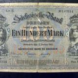 Bancnota Straine, Europa, An: 1911 - Germania 100 Mark Sächsische 1911