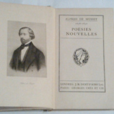 ALFRED DE MUSSET - POESIES NOUVELLES - Carte Literatura Franceza