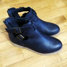 Asos Leather Boots – 150 Ron Marime: 37 - Cizme dama Asos, Culoare: Negru, Piele naturala, Negru