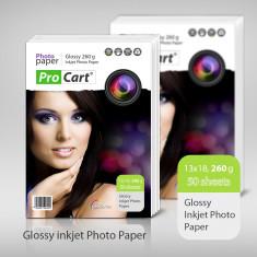 HARTIE FOTO INKJET GLOSSY 13X18 50 COLI 260G PROCART - Hartie foto imprimanta