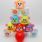 Bowling multifunctional cu popice pentru copii - Joc distractiv de socializare!