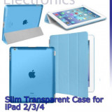 HUSA albastra magnetica fold  IPAD 2 3 4  si spate