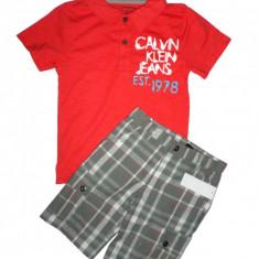 Haine Copii 4 - 6 ani - Set tricou pantaloni scurti Calvin Klein baieti 5 ani - ORIGINAL