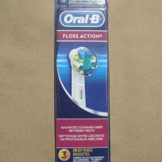 Set 3 rezerve capete periuta dinti electrica ORALB ORIGINALE Floss Action Oral-B