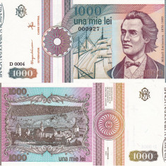 Bancnote Romanesti, An: 1991 - ROMANIA 1.000 lei 1991 serie fara punct UNC!!!
