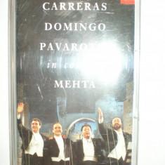 Caseta Audio de Colectie : Carreras Domingo Pavarotti in concert - Muzica Clasica decca classics, Casete audio