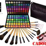 Trusa Machiaj 120 culori Fraulein38 Jelly Matte + 17 Pensule + Portfard + CADOU