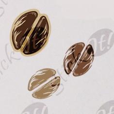 Boabe Cafea_Tatuaj De Perete_Sticker Decorativ_WALL-119-Dimensiune: 20 cm. X 18.8 cm. - Orice culoare, Orice dimensiune - Tapet