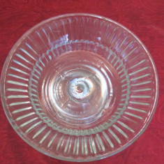 PLATOU ROTUND CU PICIOR-sticla, vintage - Bol sticla