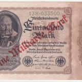 Bancnota Straine, Europa - (4) BANCNOTA GERMANIA - 1 MILLIARDE MARK 1922 (15 DECEMBRIE 1922), SUPRATIPAR, FILIGRAN CU SPIRALA, SERIE CU CIFRE MARI, STARE BUNA