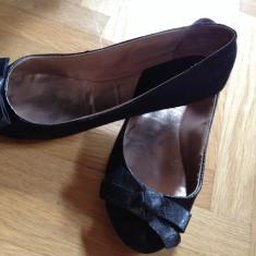 Balerini dama Zara, Marime: 36, Negru - Balerini Zara negri cu fundita mas 36