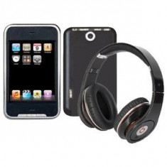 SUPER CASTI WIRELESS MONSTER POLO CU RADIO INCORPORAT, MP3 CITITOR CARD TF, ACUMULATOR CU INCARCARE USB, CABLU INCLUS. - Casti Beats SOLO HD Monster Beats by Dr. Dre