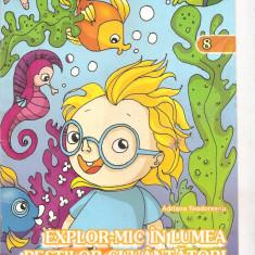 (C5264) PERIPETIILE PITICULUI EXPLOR-MIC. EXPLOR-MIC IN LUMEA PESTILOR CUVANTATORI DE ADRIANA TEODORESCU, EDITURA SINAPSIS, 2008 - Carte de colorat