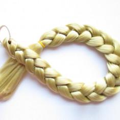 Extensii par - Coada de par impletita de 50 cm lungime culoarea Blond