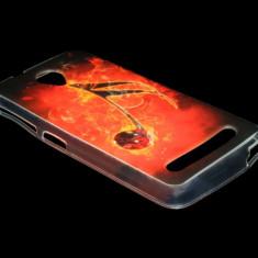 Husa telefon, Allview V1 Viper S, Rosu, Gel TPU, Husa - HUSA ALLVIEW V1 VIPER S SILICON MODEL 07 BURNING MUSICAL NOTE - CURIER GRATUIT