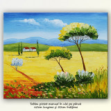 Tablou peisaj din Toscana (1) - ulei pe panza 60x50cm - Pictor roman, An: 2011, Peisaje, Altul