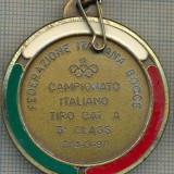 ATAM2001 MEDALIE 179 - SPORTIVA - FEDERAZIONE ITALIANA BOCCE - FEDERATIA ITALIANA DE BOWLING -CAMPIONATO ITALIANO TIRO CAT. A -starea care se vede