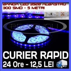 Iluminat decorativ ZDM - ROLA BANDA 300 LED - LEDURI SMD 3528 ALBASTRU (ALBASTRA, ALBASTRE) - 5 METRI, IMPERMEABILA (WATERPROOF), FLEXIBILA