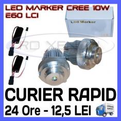 ANGEL EYES LED MARKER - E60, E61 LCI - 10W CREE High Power - ALB 6000K ZDM, Universal