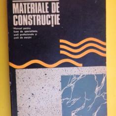 MATERIALE DE CONSTRUCTII Manual liceu - Carti Constructii