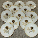 Set  - farfurii / vesela - fructe / desert - portelan Bavaria - Rosenthal - 1940 - 12 persoane