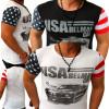 Tricou barbati, Maneca scurta, Bumbac - Tricou USA