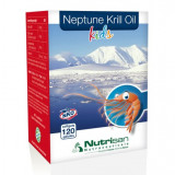 Neptune Krill Oil-Omega 369 pentru copii, Vitamina D3, acizi grasi, 120 capsule - Vitamine/Minerale