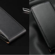Husa Samsung Galaxy Core 2 Duos G355H Flip Case Slim Inchidere Magnetica Black, Negru, Piele Ecologica, Toc, Cu clapeta