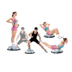 Minge Fitness - Minge Bosu rotunda cu extensor