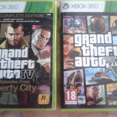 Vand jocuri xbox 360, originale, ca noi, PAL, GTA V si GTA IV EPISODES FROM LIBERTY CITY, gta 4 - GTA 5 Xbox 360 Rockstar Games