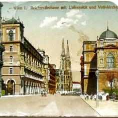 CARTE POSTALA VECHE - 1913, VIENA - CENTRUL ORASULUI, Europa, Circulata, Fotografie