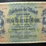 Bancnota Straine - Germania 500 Mark Dresden 1923