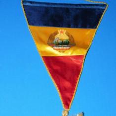 FANION MATASE ROMANIA FRF FEDERATIA ROMANA DE FOTBAL. - 8 AUTOGRAFE - EMERIC IENEI, MARIUS LACATUS, REDNIC, probabil KLEIN (01182) - Ordin
