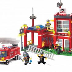 Pompieri Adventure, joc constructie tip Lego - Statie Pompieri - 380 piese - Jocuri Seturi constructie
