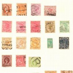 Statele Australiene - VICTORIA, 1860-1912, lot 27 marci, conditie mixta
