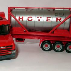 Macheta auto - Herpa Scania hauber 144L-400 container 20