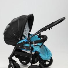 Carucior copii 2 in 1 - Carucior 2 in 1 Zipy Z8 (Black Turqoise) Baby-Merc