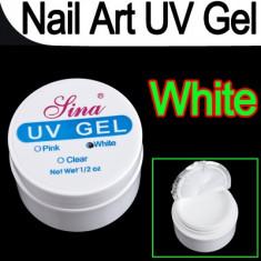 Gel unghii - Gel UV Sina pentru constructie unghii false 15 g Alb French