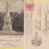 Salutari din Bucuresti - Monumentul Eliade - clasica - Carte Postala Romania pana la 1904, Circulata, Printata