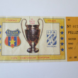 BILET MECI STEAUA-IFK GOTEBORG TURUL III CCE 15 MARTIE 1989