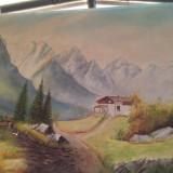Tablou antic pictura acuarela ! Semnat K.KLEE 78 ! - Pictor roman