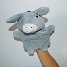 Jucarii plus - Marioneta teatru de papusi, papusa manuala (pe mana), magar / magarus, plush