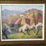 Tablou Pictura Paul Scortesco,,, Peisaj din Provence'' - Pictor roman, Peisaje, Ulei, Impresionism