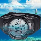 CEAS SPORT MILITARY WATHER RESIST 50M ALARMA LUMINA REZISTENTA SOC -SUPER PRET - Ceas barbatesc, Quartz, Cauciuc, Pentru scufundari (Diver), Electronic